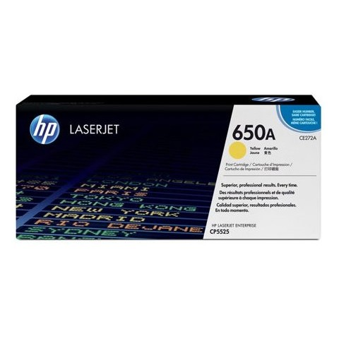 HP 650A CE272A Yellow Original Toner Cartridge