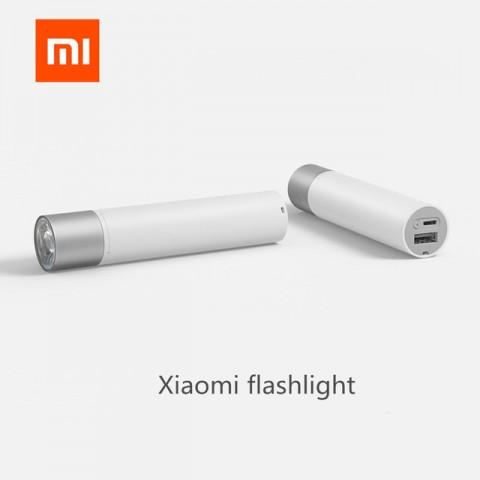 Xiaomi  LED Flashlight 240LM Stepless Dimming 11 Modes,Mobile Power 3350mAh USB Rechargeable
