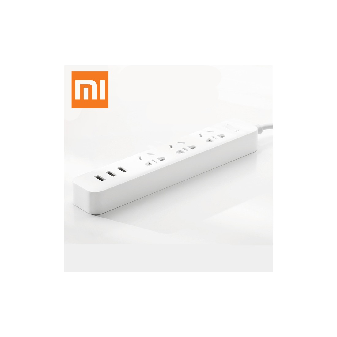 XiaoMi Mini Power Strip, 3 Power Outlets with 3 USB  -  WHITE